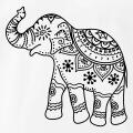 Eléphant indien fleuri à personnaliser.