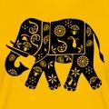 Elephant indien à décorations fleuries, design Décoratif classique.
