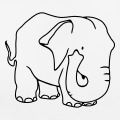 Elephant massif et carré, design personnalisable.