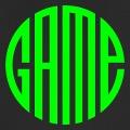 Game, écrit en lettres spéciales qui une fois assemblées forment un cercle.