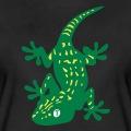 Gecko stylisé décoré de taches régulières.