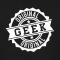 Geek original, tampon certificat d'authenticité, un design eek et retrogaming.