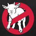 Parodie du logo Ghostbuster avec une chèvre / goat au lieu du fantôme de l'original.