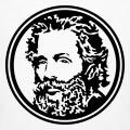Portrait d'Herman Melville en médaillon, un motif culture et littérature.