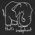 Irrelephant, irrelephant, calembour visuel en anglais.
