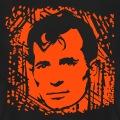 Imprimez un t-shirt Jack Kerouac. Design spécial impression claire sur fond noir.
