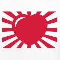Coeur entouré de rayons, un design japonisant.