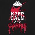 Keep calm parodique avec tache de sang et diadème de Carrie.