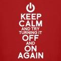Keep calm personnalisé avec symbole OFF and ON again.