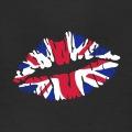 Bouche au design et couleurs de l'Union Jack, le drapeau anglais.