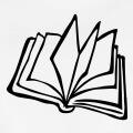Livre stylisé, illustration personnalisable vectorielle à personnaliser en ligne.