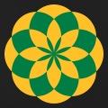 Lotus dessiné en cercle entrecroisés concentriques.