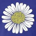 Fleur des champs à pétales réguliers, design marguerite ou pâquerette.