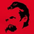 Nietzsche, portrait du philosophe, sylisé et dessiné en format vectoriel.