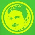 Portrait de Nikola Tesla spécial impression sur fond sombre.