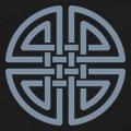 Noeud celtique à 4 portions à personnaliser et imprimer en ligne.