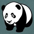 Bébé panda à quatre pattes noir et blanc stylisé en style kawaii anime