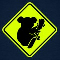 Panneau koala en losange, à bordure noire.