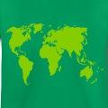 Carte du monde unie une couleur à personnaliser.