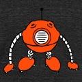 Robot rigolo au corps en forme de boule et membres téléscopiques.
