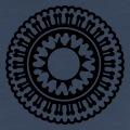 Rosace indienne décorative une couleur à personnaliser.