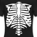 Squelette vectoriel à personnaliser spécial impression t-shirt.