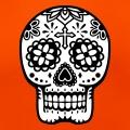 Tête de mort Mexique, calavera 2 couleurs.