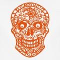 Tête de mort décorée de fleurs, design décoratif.