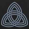 Symbole à trois branches du marteau de Thor, design de la mythologie nordique.