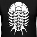 Squelette de trilobite graphique une couleur spécial impression de t-shirt.
