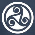 Motif celtique à trois branches à imprimer en ligne.