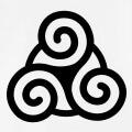 Motif celtique et breton une couleur à personnaliser en ligne.