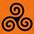 Triskel breton simple à branches en spiraltes, emblème de la Bretagne.