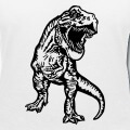 Tyrannosaurus rex, t-rex stylisé réaliste dessiné de face.