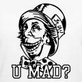 U mad, mad hatter, design de troll mixé avec le chapelier fou.