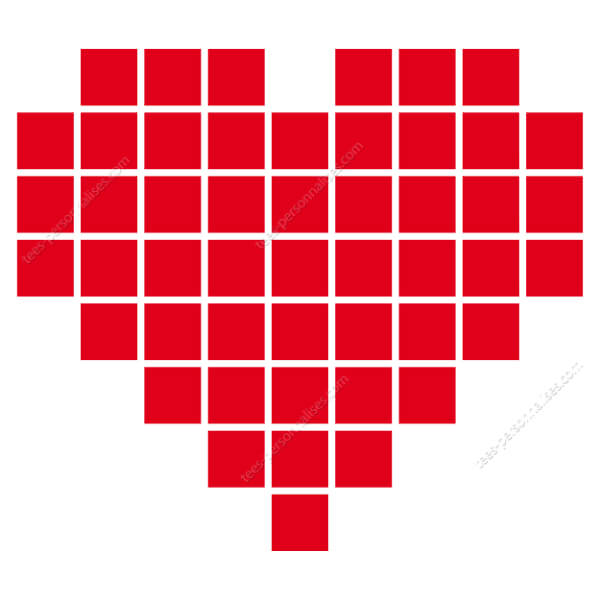 Dessin Pixel Coeur