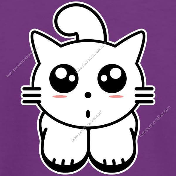 T Shirt Chaton Kawaii Stylise Imprimez Un T Shirt Chat En Ligne