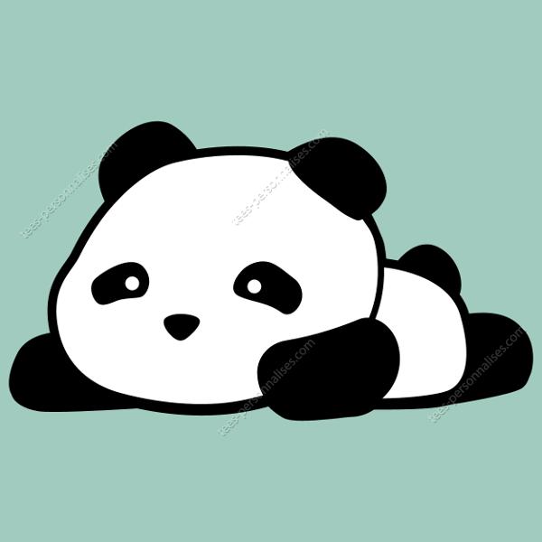 T Shirt Panda Kawaii Sur Le Ventre Imprimer Un T Shirt Panda