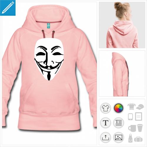 hoodie guy fawkes à imprimer en ligne