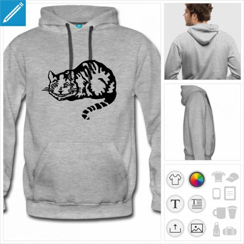sweat-shirt homme chat à créer soi-même
