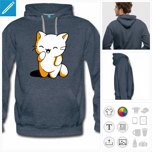 hoodie chaton personnalisable