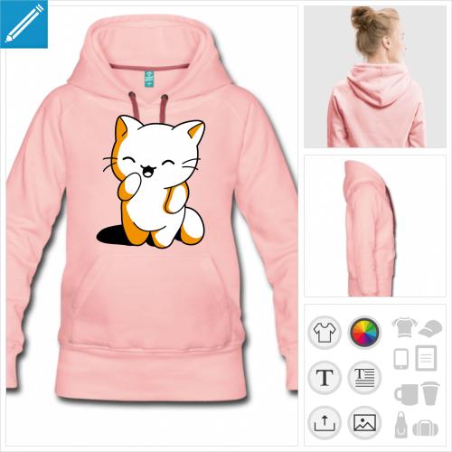 hoodie chaton à personnaliser en ligne
