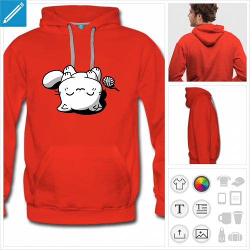 sweatshirt chaton à personnaliser et imprimer en ligne