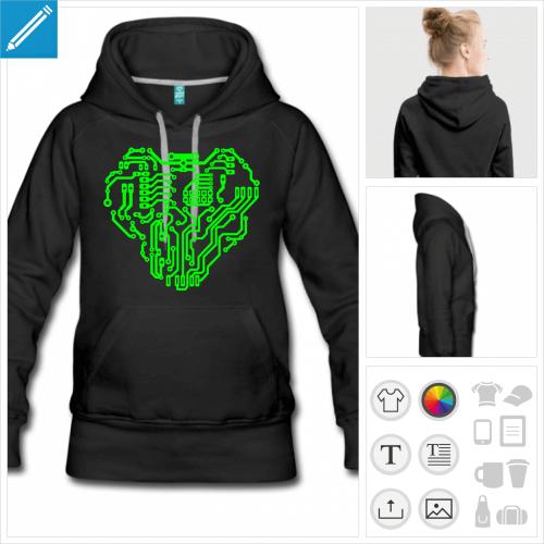 hoodie nerd à créer soi-même