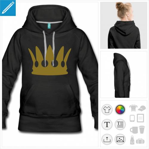 hoodie couronne à imprimer en ligne