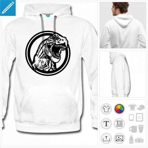 hoodie homme dinosaure à créer soi-même