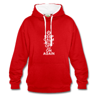 Keep calm and try turning it off and on again, hoodie homme personnalisé