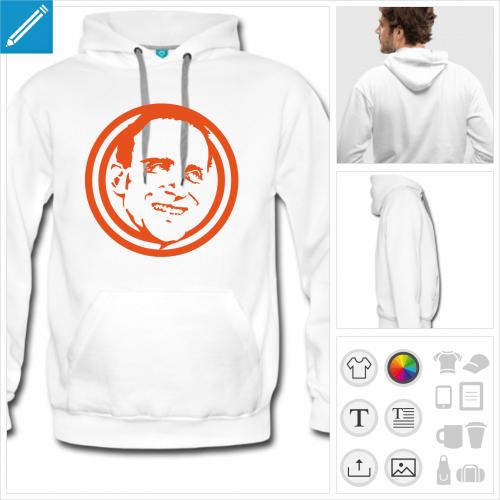hoodie homme Boris Vian à imprimer en ligne