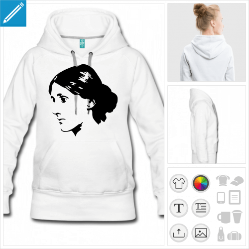 hoodie femme littérature à créer soi-même
