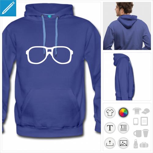 sweat-shirt homme lunette urkel à personnaliser et imprimer en ligne